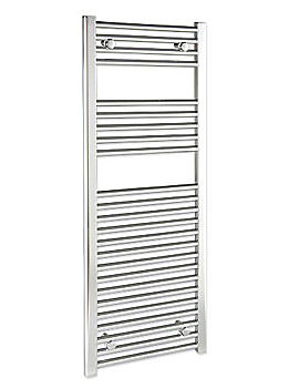 Straight 750 x 1400mm Chrome Towel Rail - STRCR75140