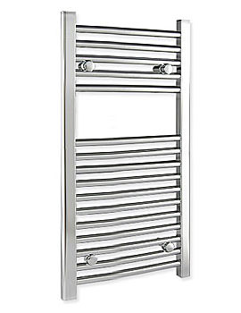 Straight 300 x 800mm Chrome Towel Rail - STRCR3080