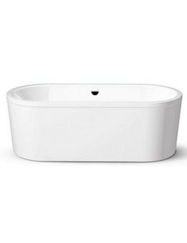 Centro Duo Oval 127-7 Moulded Panel Steel Bath 1700 x 750 NTH No Grip