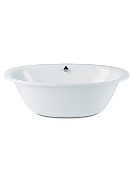 Duo Oval Steel Bath With Moulded Panel 1900 x 1000mm