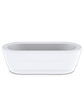 Kaldewei Classic Duo Oval Freestanding Bath With Panel 1800 x 800mm
