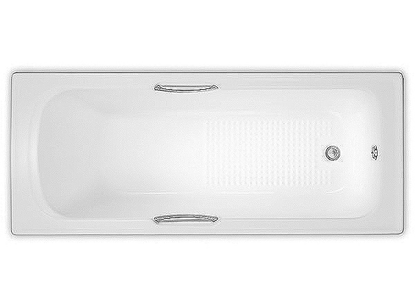 Large Image of Trojan Granada 8mm Bath With Twin Grips 1675 x 700mm