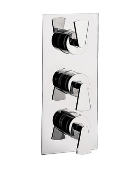 Image of Essence Triple Thermostatic Shower Valve with 3 way Diverter | ES3000RC
