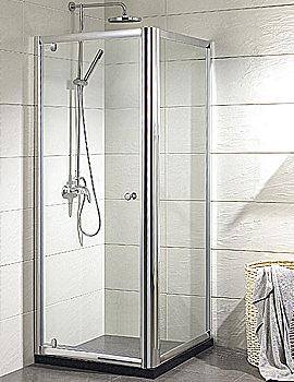 Aqualux Pivot Door Shower Enclosure 900mm x 900mm - Silver