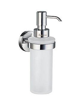 Image of Smedbo Home Frosted Glass Soap Dispenser With Holder | HK369
