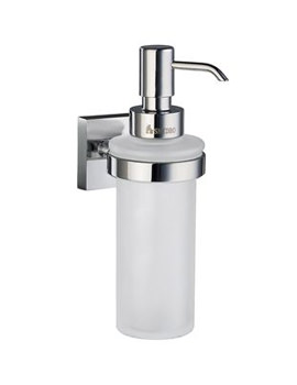 Image of Smedbo House Frosted Glass Soap Dispenser With Holder - RK369