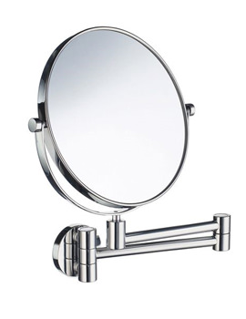 Smedbo Outline Swing Arm Shaving And Make Up Mirror Round - Image