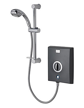 Aqualisa Quartz 10.5 KW Electric Shower Graphite And Chrome - QZE10511