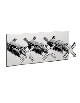Image of Crosswater Totti Thermostatic Shower Valve 3 Control Landscape