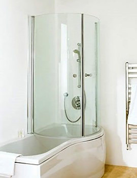 Carron Arc 5mm Acrylic Shower Bath 1700 x 700-850mm - Right Hand
