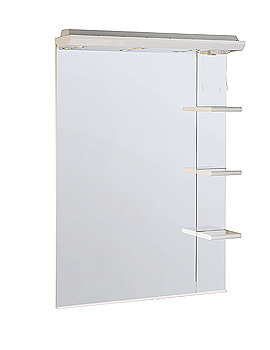 Valencia 700mm Mirror With Shelves And Canopy - SC700W