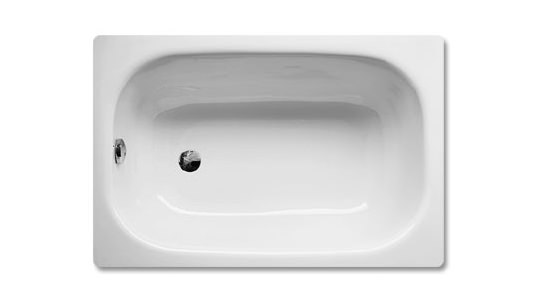 Bette labette rectangular super steel 2 th bath 1300 x 700mm for Small baths 1300