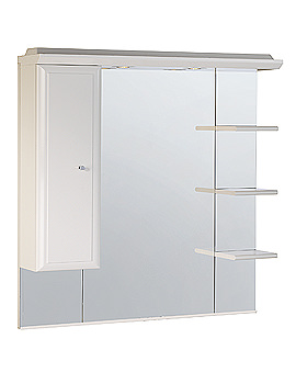 Image of Roper Rhodes Valencia 1000mm Mirror With Shelves - Cupboard And Canopy