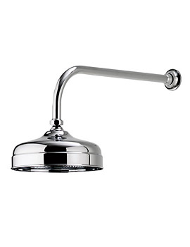 Aquatique Concealed Fixed Height Shower Drencher Head Chrome - 580.01