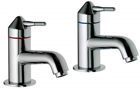 Large Image of Aqualisa Axis Basin Taps Chrome - AX0211