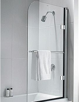 Twyford Hydr8 Radius Panel Bath Screen - H82968CP