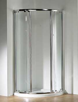 Original 1000x800 White Double Slider Door Centre Access+Tray+Waste