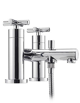 Tre Mercati Contour Pillar Bath Shower Mixer Tap Crosshead - 4605