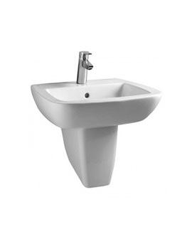 Ideal Standard Ventuno 555mm Basin With Semi Pedestal - T043501