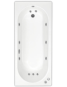Cascade 11 Jets Whirlpool Bath 1700 x 700mm