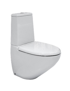 RAK Reserva Dual Flush Close Coupled WC With Standard Toilet Seat 640mm