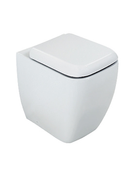 Image of RAK Metropolitan Back To Wall WC Pan With Standard Toilet Seat 525mm