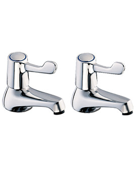 Lever Action Taps for Bath With Metal Back Nuts