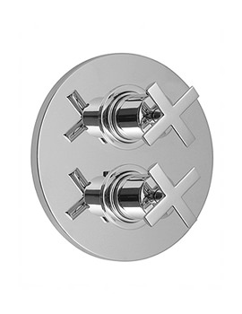 Vado Tonic 2 Outlet 2 Handle Thermostatic Shower Valve With Diverter