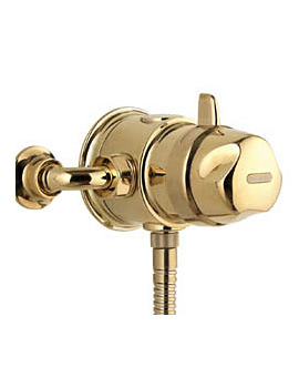 Image of Aqualisa Aquavalve 700 Exposed Thermostatic Shower Valve Gold 700.51.04