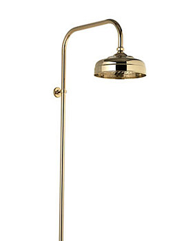 Aquatique Exposed Fixed Height Shower Drencher Head Gold - 581.04