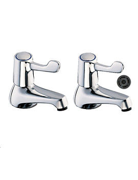 Deva Lever Action Basin Taps With 4-Liters Regulator - DLT101-FR101-4