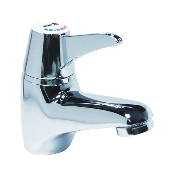 Large Image of Deva Thermostatic Sequential Lever Mono Basin Mixer Tap - SOL003