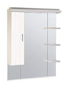 Image of Roper Rhodes New England 1000mm White Mirror-Canopy-Shelves-Cupboard
