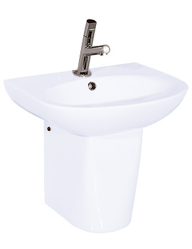 Related RAK Infinity 1 Tap Hole Basin With Semi Pedestal 500mm - INF50BAS1