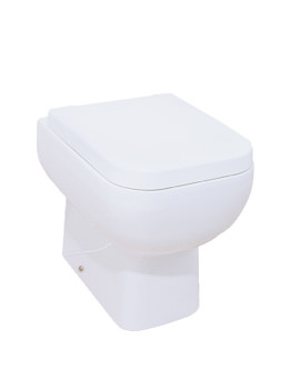 RAK Series 600 Back To Wall WC Pan With Standard Seat 500mm - S600BTWPAN