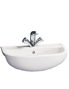 RAK Compact 1 Tap Hole Semi Recessed Basin 550mm - COMSRBAS1