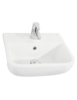 RAK Series 600 1 Tap Hole Semi Recessed Basin 420mm - S60042SR1