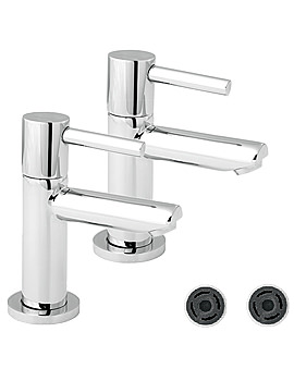 Insignia Chrome Basin Taps With 4 Litre Flow - INS101-FR101-4