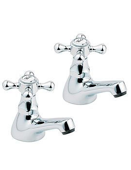 Tudor Chrome Basin Taps - TUD01