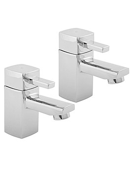 Rubic Basin Taps Chrome - RUB101