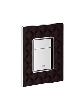 Grohe Skate Cosmo Black Quilted Leather Flush Plate - 38913XN0