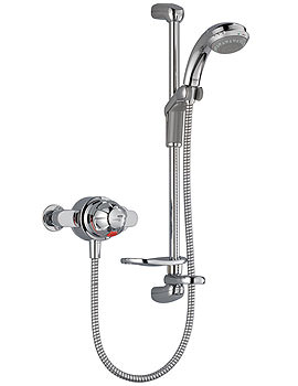 Mira Combiforce 415 Exposed Valve Mixer Shower White And Chrome