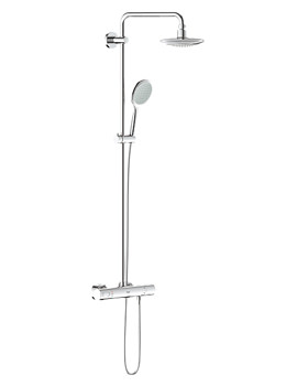 Solo Thermostatic Shower System With 390mm Arm - 27434000
