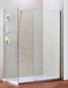 Techno View Walk In Corner Wall Single Entry Shower Enclosure