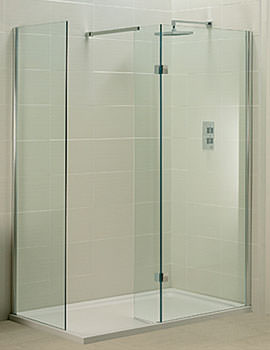 Phoenix Techno View Walk In Single Entry Shower Enclosure - SE070