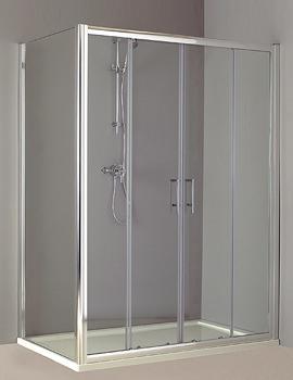 Phoenix Twin Sliding Shower Door 1700mm - SE011