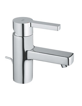 Lineare Basin Mixer Tap With Pop-Up Waste 35mm Cartridge