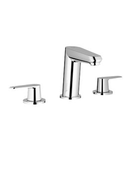 Eurodisc 3 Hole Basin Mixer Tap With Pop-up Waste - 20214002