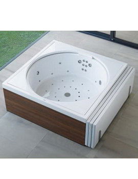 Blue Moon 1400mm Bath With Frame And Overflow - Combi System L