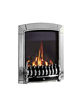 Flavel Caress Remote Control Traditional HE Gas Fire Chrome - FHEC3JRN